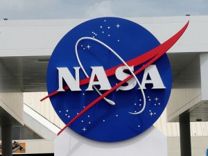 NASA logo at Kennedy Space Center