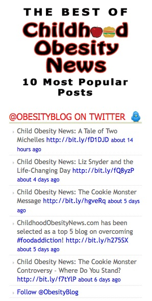 Childhood Obesity News -- Twitter Crawl