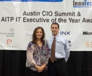 Sean Lowry, Exe. Dir., Innotech and Carrie Vanston, Co-Author, MINITRENDS at Innotech Conference, Photo by Sloan Foster