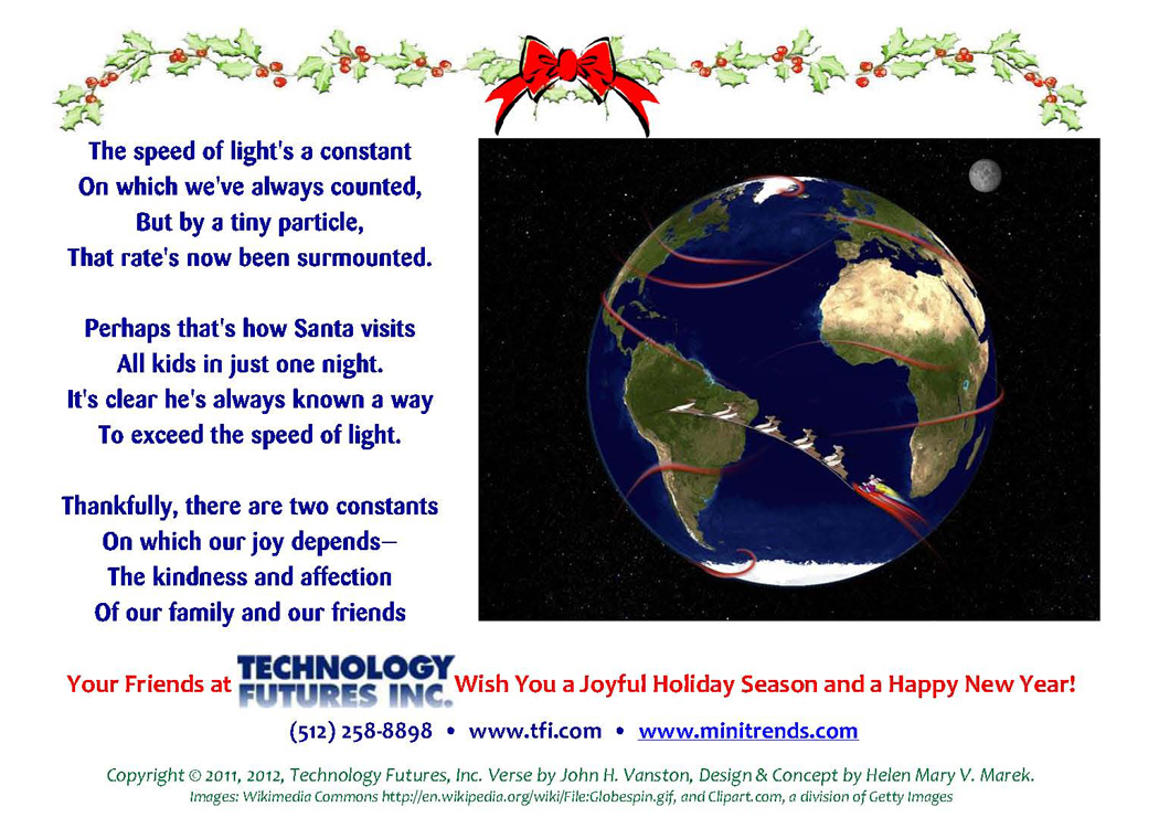 Happy Holidays from Technology Futures, Inc. and Minitrends