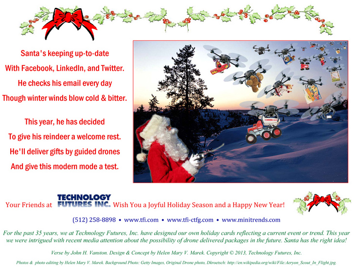 Happy Holidays from TFI and MiniTrends!! Card by Dr. John Vanston and Helen Mary Vanston