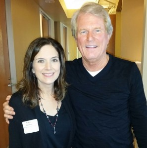 Roy Spence with Carrie Vanston after his Face-2-Face Interview